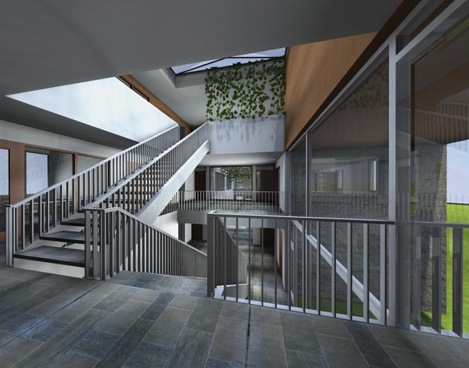 Thomas dill architect projecten multi complex ggz nijmegen - Hal entreehal ...